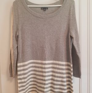 Grey with white stripes sweater